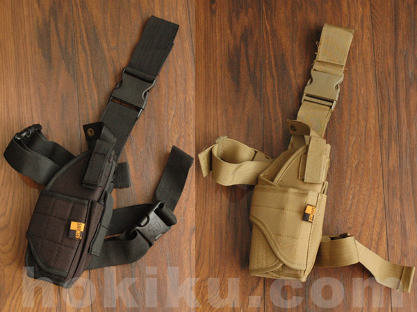 Universal Drop Leg Holster Paha - Black / Brown