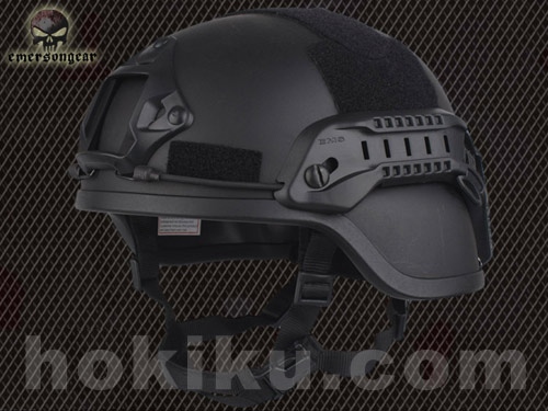 Helm Emerson MICH2000 with NVG Mount & Siderail - Black