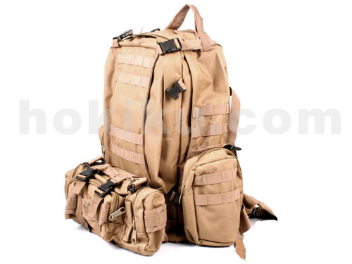 Backpack Combine Bag - Brown